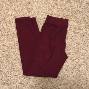 Maurice's: Soft Wine colored Legging